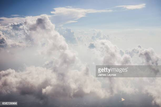 aerial view of clouds and sky above Fort Lauderdale.