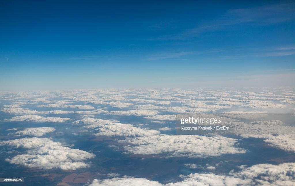 Aerial View Of Clouds In Sky : Stock Photo