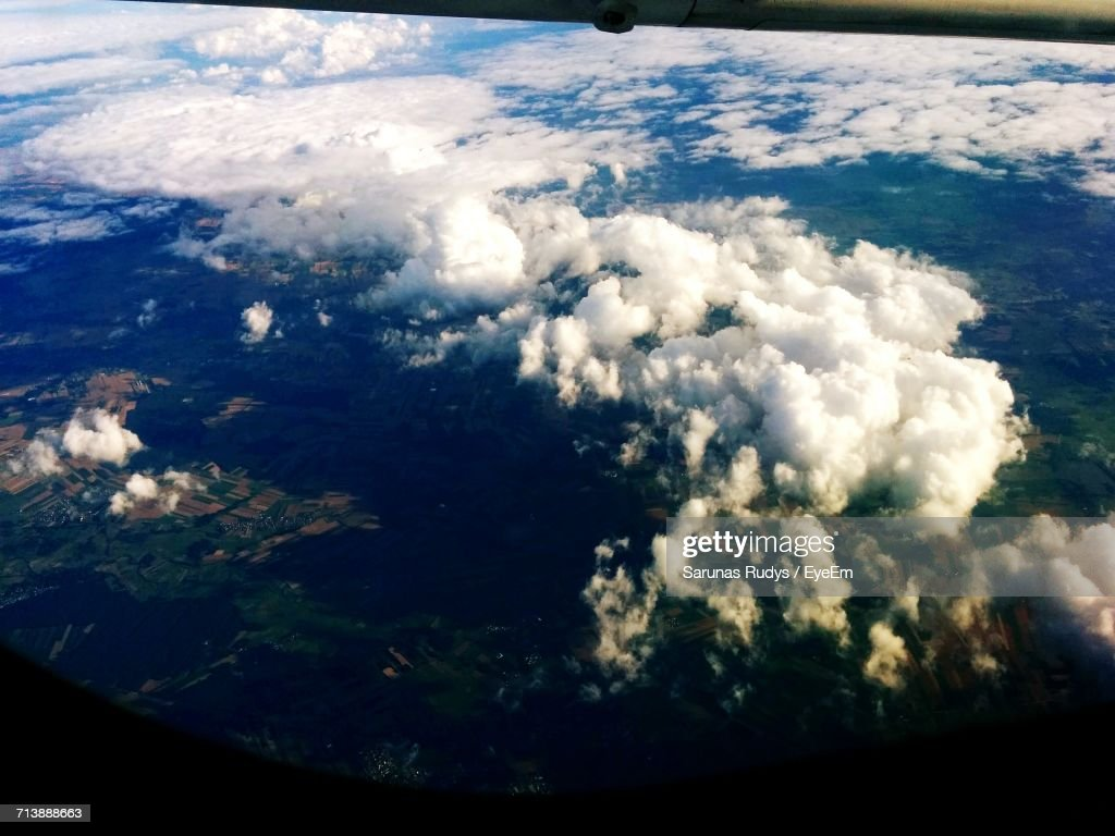 Aerial View Of Clouds Over Landscape High-Res Stock Photo ...