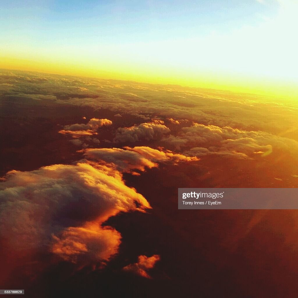 Aerial View Of Clouds : Foto stock