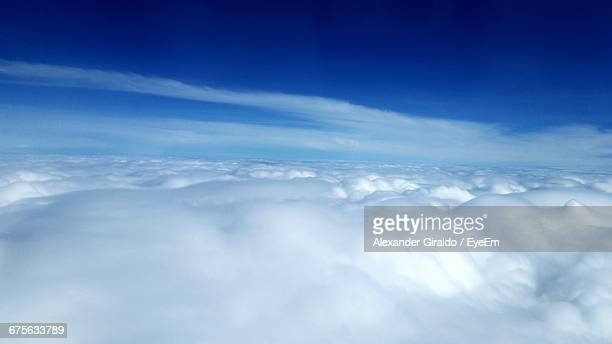 aerial view of clouds - sky only stock pictures, royalty-free photos & images