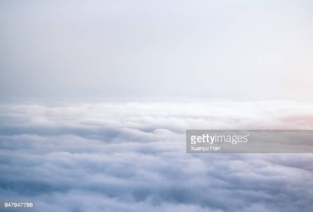 aerial view of clouds - sopra foto e immagini stock