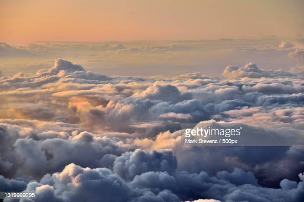 aerial view of cloudscape during sunset,united states,usa - tag 1 stock-fotos und bilder