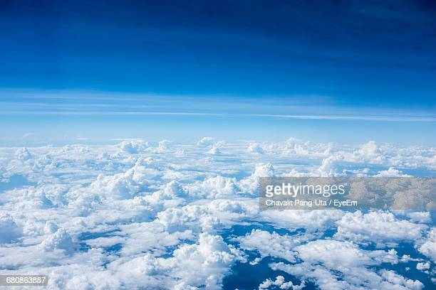 aerial view of cloudscape - oben stock-fotos und bilder