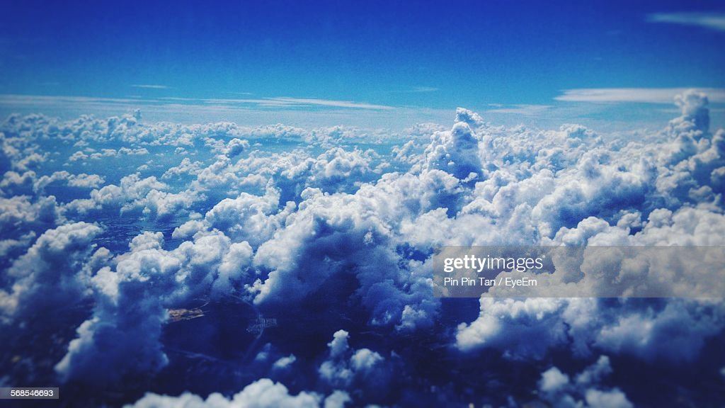 Aerial View Of Cloudy Sky : Stock Photo