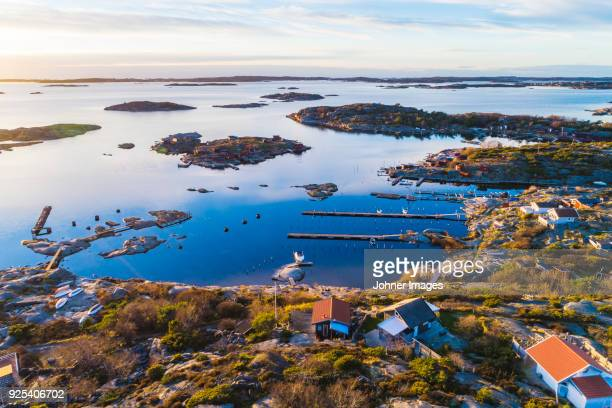 aerial view of coast - gothenburg stock pictures, royalty-free photos & images