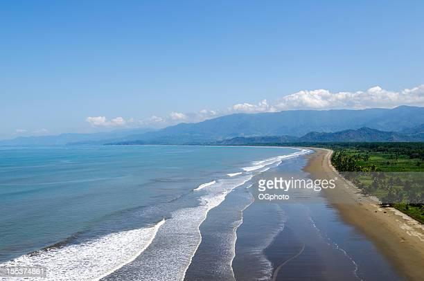 Aerial view of coastline near Dominical, Costa Rica