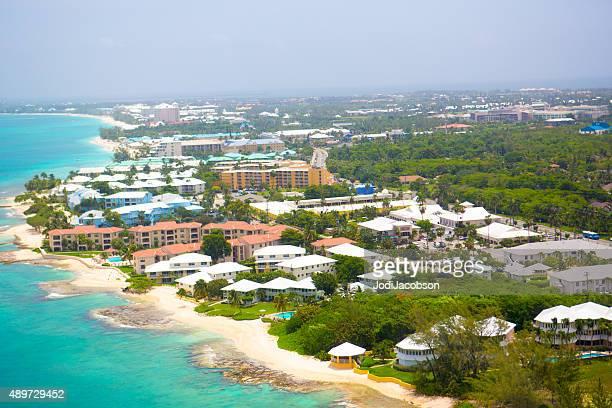 Luftbild der Küste von Grand Cayman, Cayman Islands