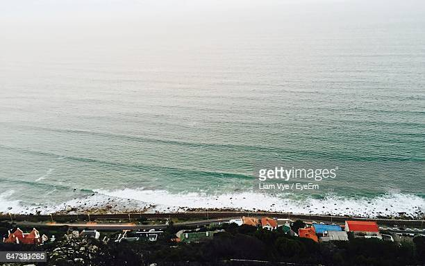 aerial view of coastline - constantia stock pictures, royalty-free photos & images