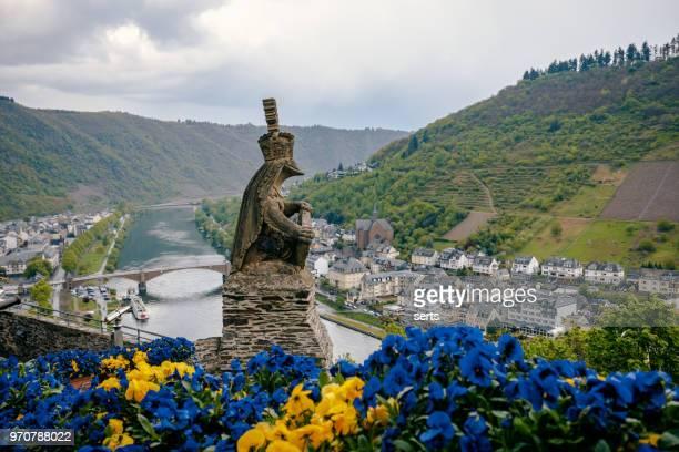 Luftbild von Cochem und die Mosel am Fluss Mosel, Deutschland