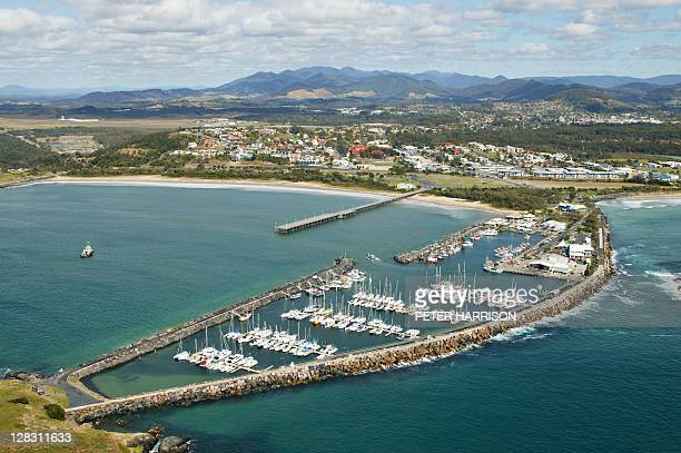 Aerial view of Coffs Harbour, north east coast, NSW, Australia