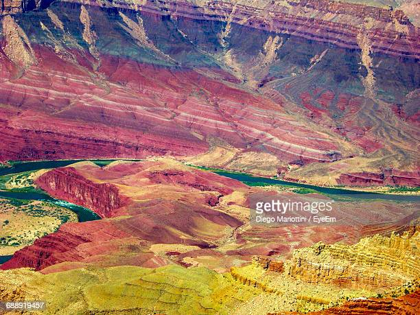 Aerial View Of Colorado River In Grand Canyon