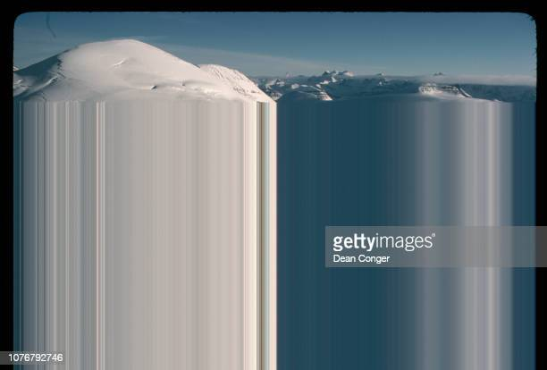 Aerial View of Columbia Icefield Canada