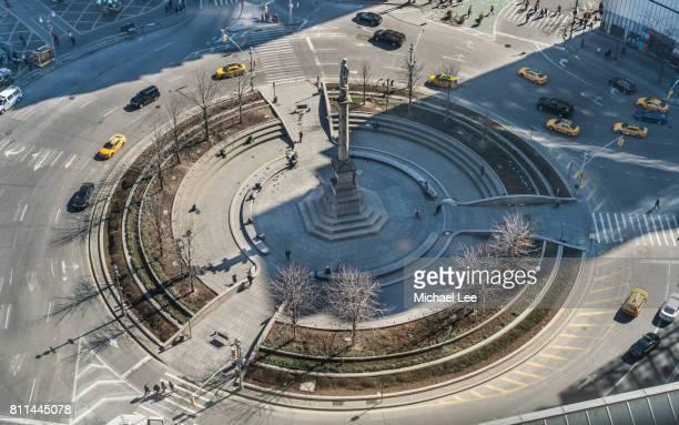 Aerial View of Columbus Circle - New York