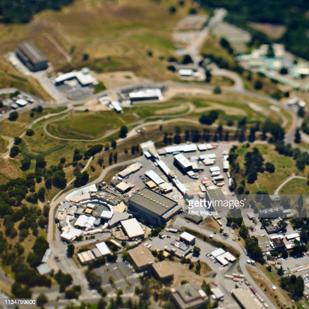 aerial view of commercial buildings - palo alto stock pictures, royalty-free photos & images