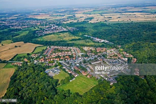 Aerial view of Coopersale in Essex