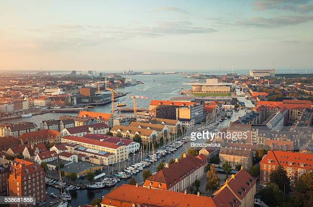 Aerial view of Copenhagen, Denmark