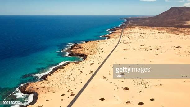 Aerial view of Corralejo Park, Fuerteventura, Canary Islands