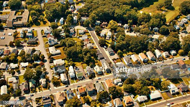 aerial view of country and forest - massachusetts stock pictures, royalty-free photos & images