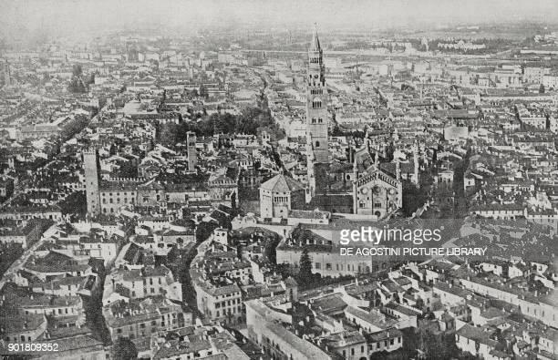 Aerial view of Cremona Lombardy Italy from L'Illustrazione Italiana Year LI No 1 January 6 1924