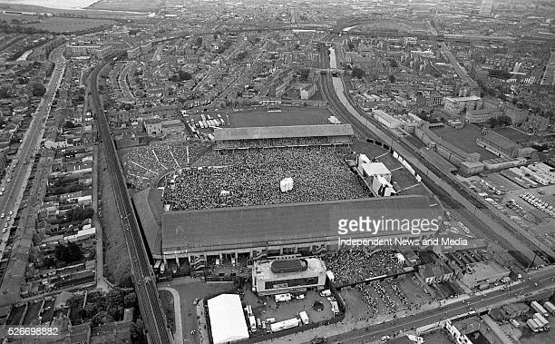Aerial view of Croke Park for the 1987 U2 concert.