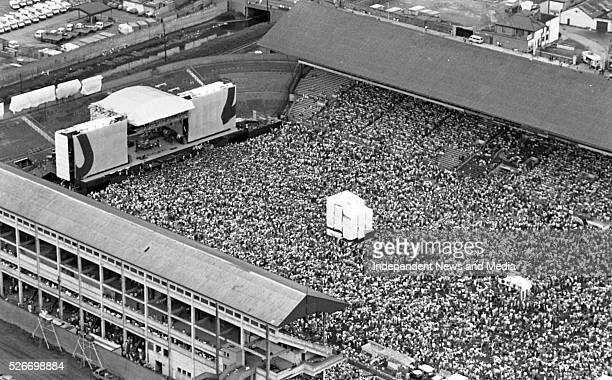 Aerial view of Croke Park for the 1987 U2 concert