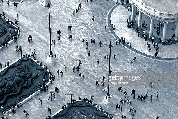 aerial view of crowded  - mexico city aerial stock pictures, royalty-free photos & images