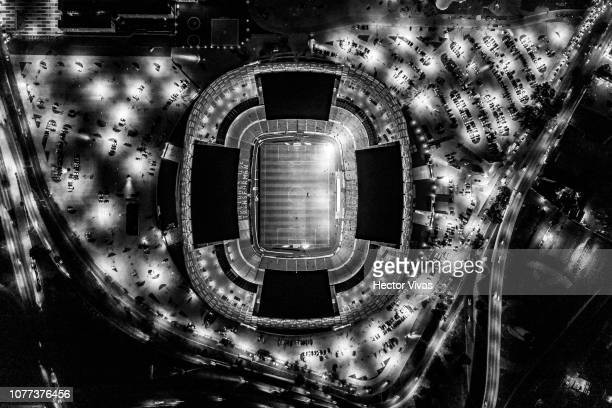 Aerial view of Cuauhtemoc stadium during the 1st round match between Puebla and Cruz Azul as part of the Torneo Clausura 2019 Liga MX at Cuauhtemoc...