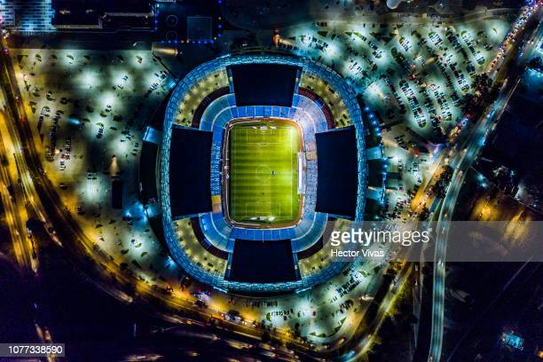 Aerial view of Cuauhtemoc stadium prior to the first round match between Puebla and Cruz Azul as part of the Torneo Clausura 2019 Liga MX at...