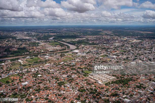 aerial view of cuiabá - クイアバ ストックフォトと画像