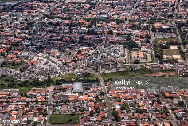 aerial view of curitiba, brazil - parana state stock pictures, royalty-free photos & images