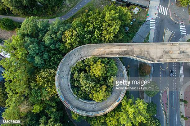 Aerial View Of Curved Highway