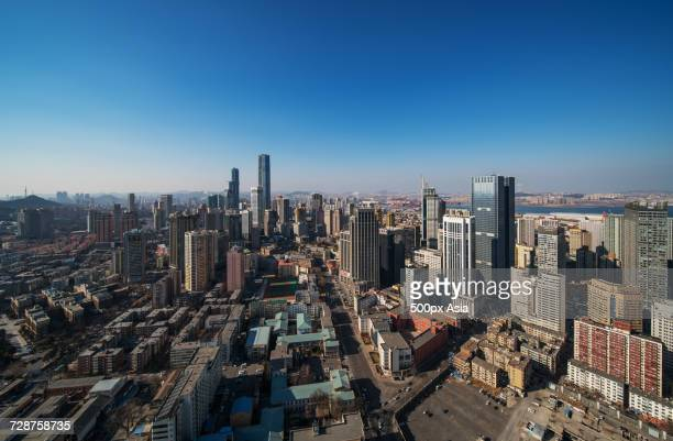 Aerial view of Dalian, Liaoning, China