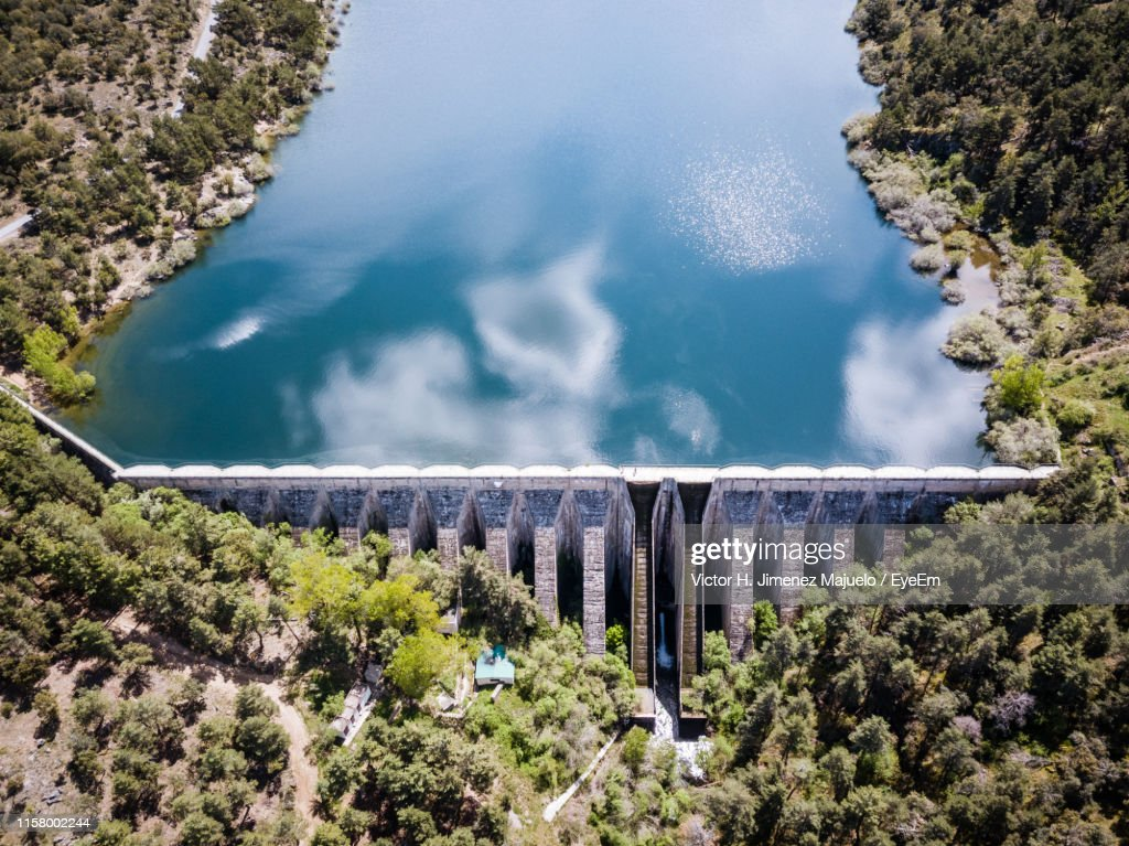 Aerial View Of Dam : Stock Photo