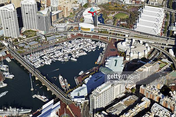 Aerial view of Darling Harbour, NSW, Australia