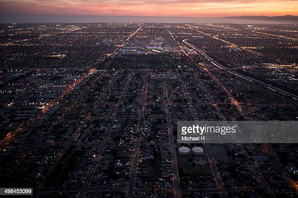 Aerial view of  dawntown,LA
