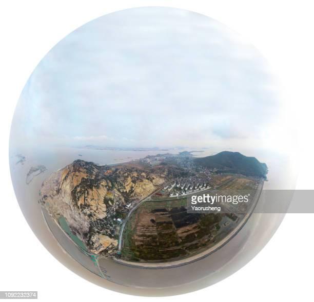 Aerial view of Dayangshan island,Shengsi county,China