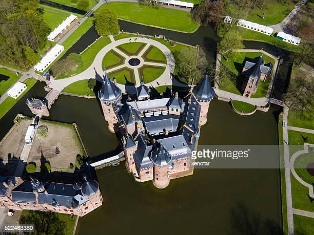 aerial view of De Haar Castle