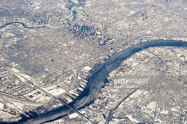 Aerial view of Delaware River