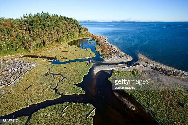 aerial view of delta - kitsap county washington state stock pictures, royalty-free photos & images