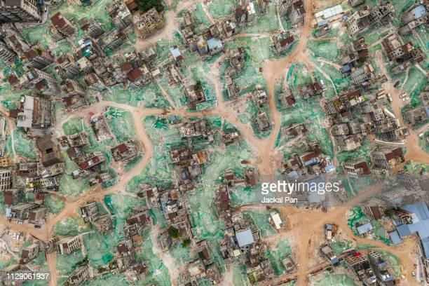 Aerial view of Demolishing Urban village