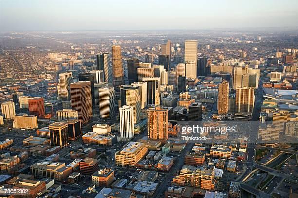 Aerial view of Denver, Colorado