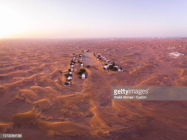 aerial view of desert - emirate of sharjah stock pictures, royalty-free photos & images