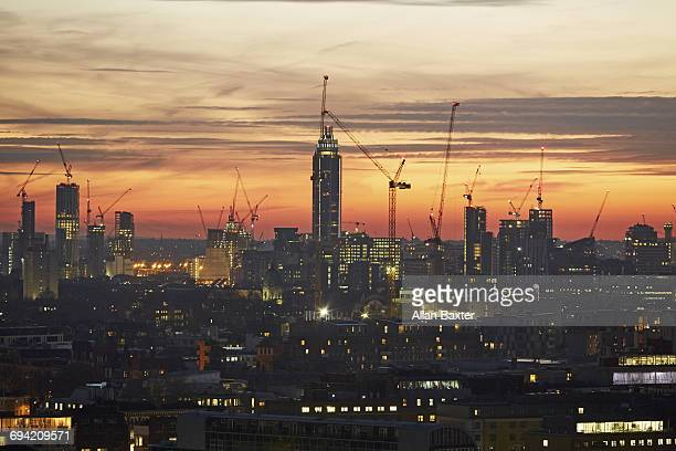 Aerial view of development in South London