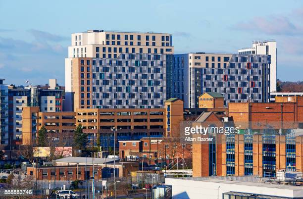 aerial view of development in southampton - southampton england stock pictures, royalty-free photos & images