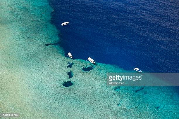Aerial View of Divespot Blue Hole Micronesia Palau