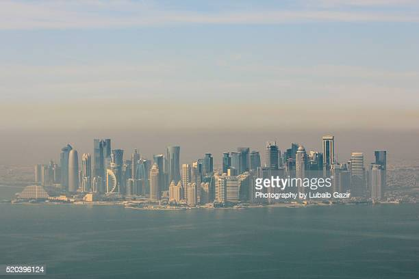 Aerial view of Doha Skyline