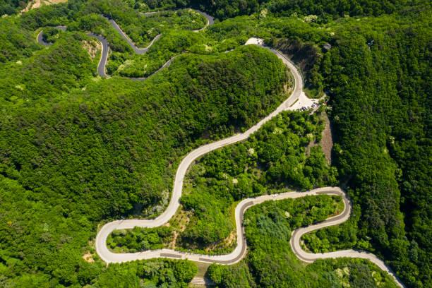 Aerial View of Doma-ryeong, Yeongdong, South Korea