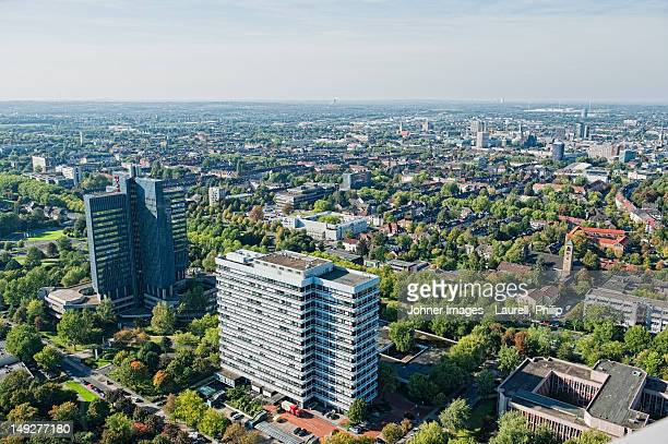 aerial view of dortmund, germany - dortmund stock-fotos und bilder