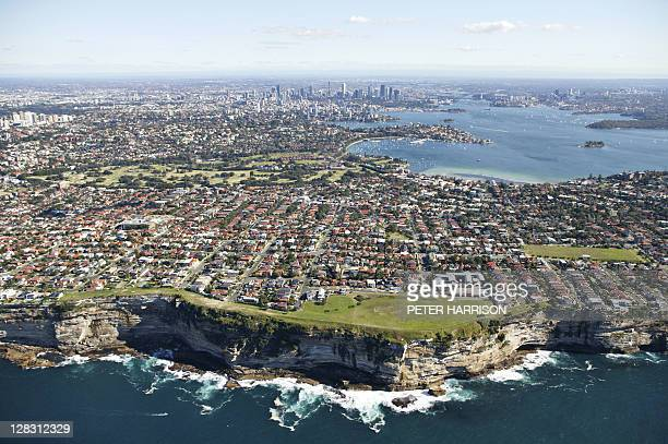 aerial view of dover heights, sydney, nsw, australia - high up stock pictures, royalty-free photos & images